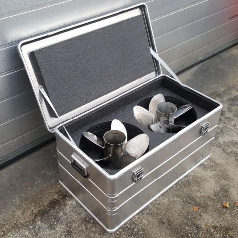 Zarges kasse med skuminnredning for propeller