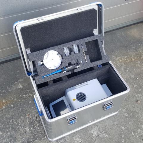 Eurobox 40702 med manuelt skåret skuminnredning