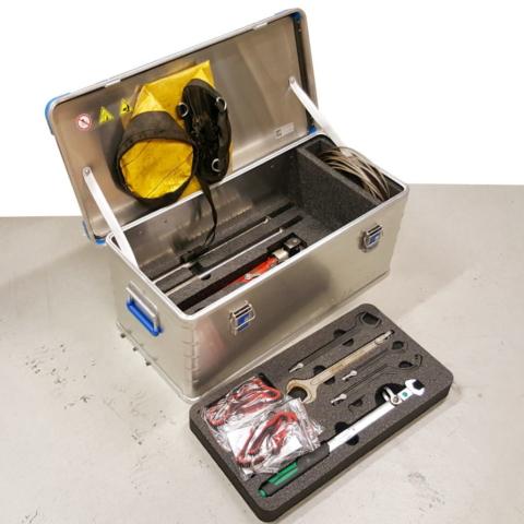 Eurobox 40704 med innredning for fallsikringsutstyr