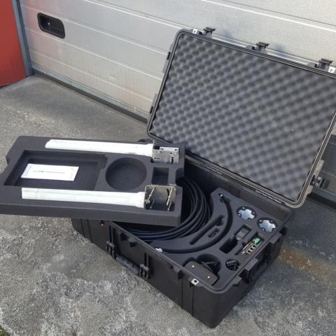Pelicase 1650 med CNC maskinert innredning for 3G utstyr