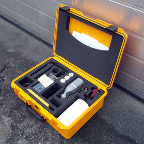 Peli Storm Case iM2600 med CNC maskinert skuminnredning for diverse måleinstrumenter